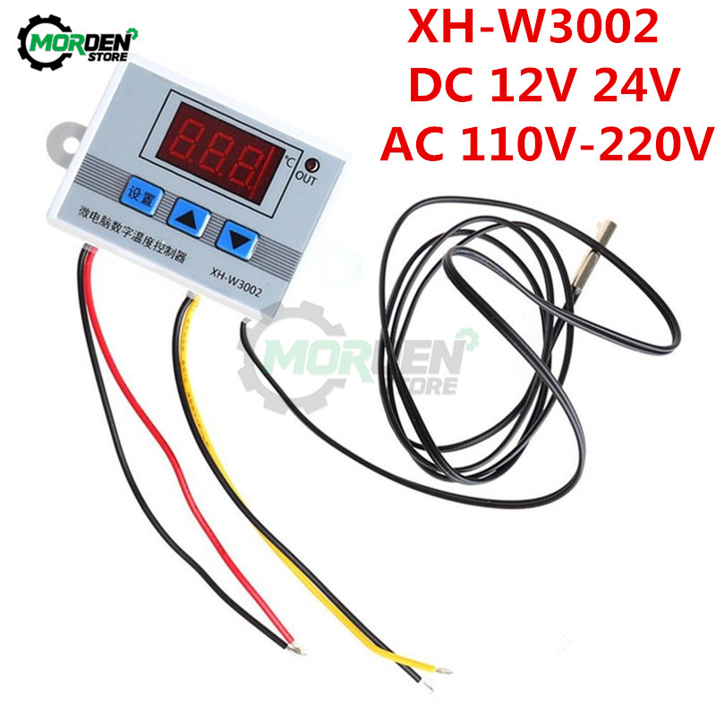 XH-W3002 W3002 W3001 DC 12V 24V AC 110V-220V LED Digital Thermoregulator Thermostat Temperature Controller Meter Heating Cooling