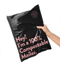 50 pçs/lote novo 100% d2w saco de correio biodegradável roupas saco expresso eco mailer saco postal à prova d2água auto-selo bolsa sacos