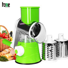 Food Crusher Grater Vegetable Cutter Multi Slicer Cheese Chopper Manual 3 In 1 Round Processor Kitchen Accessories Salad Spinner