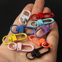 20 adet renkli anahtarlık halka Metal ıstakoz kanca klipleri çanta araba anahtarlık diy takı aksesuarları anahtar kanca kanca Up baz bulguları