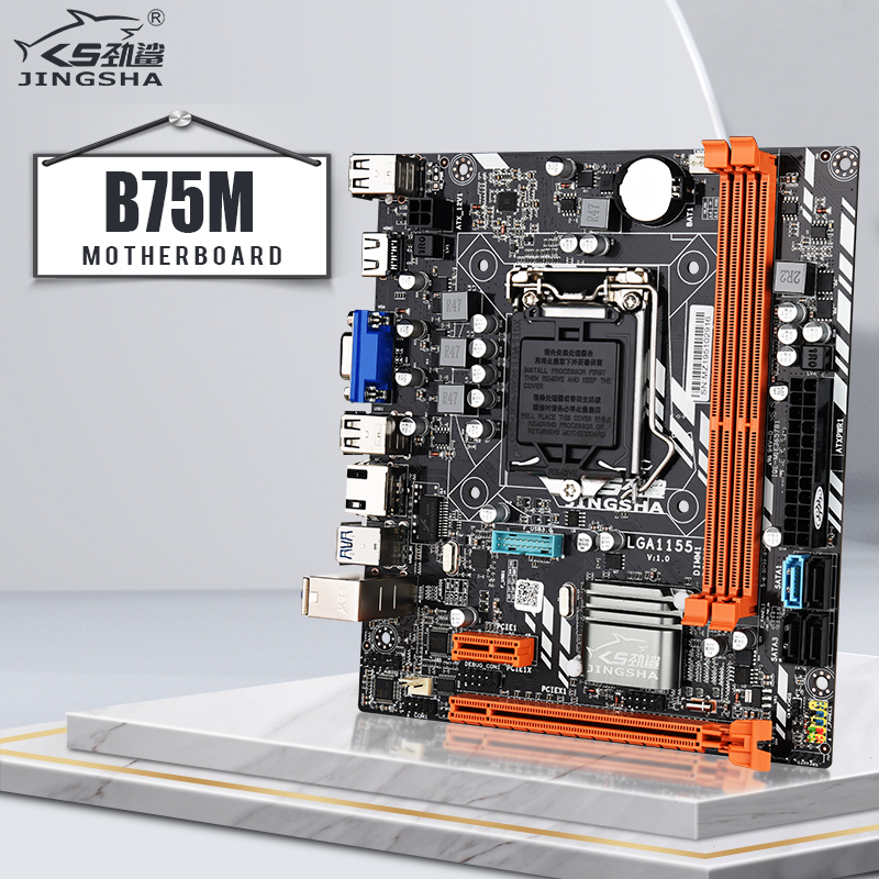 Hot selling JINGSHA B75M desktop <font><b>motherboard</b></font> <font><b>LGA1155</b></font> for i3 i5 i7 CPU support 2* DDR3 Up to 16GB VGA HDMI USB3.0 SATA3.0 image