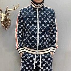 Star borse GG lettera sport casuali set giacca con vari Coreano popolare logo degli uomini camicia a maniche lunghe pantaloni lunghi vestito di affari