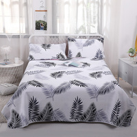 Luxury Cotton quilting Hemming Bedspread white,pink,gray,blue Bed Cover sets Bedsheet Pillowcases 48x74cm 3pcs.