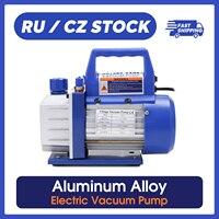 Bomba de vacío de paleta rotativa eléctrica de una sola etapa, mantenimiento de refrigeración de aleación de aluminio, bombas de vacío industriales Automotrices