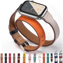 Correa de cuero genuino para Apple Watch, pulsera de reloj, Series 6, SE, 5, 4, 3, 2, 1, 44MM, 40MM, 42MM, 38MM, Iwatch