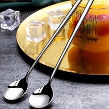 Нержавеющаясталь ложки с длинной ручкой помешивая ложкой десертная