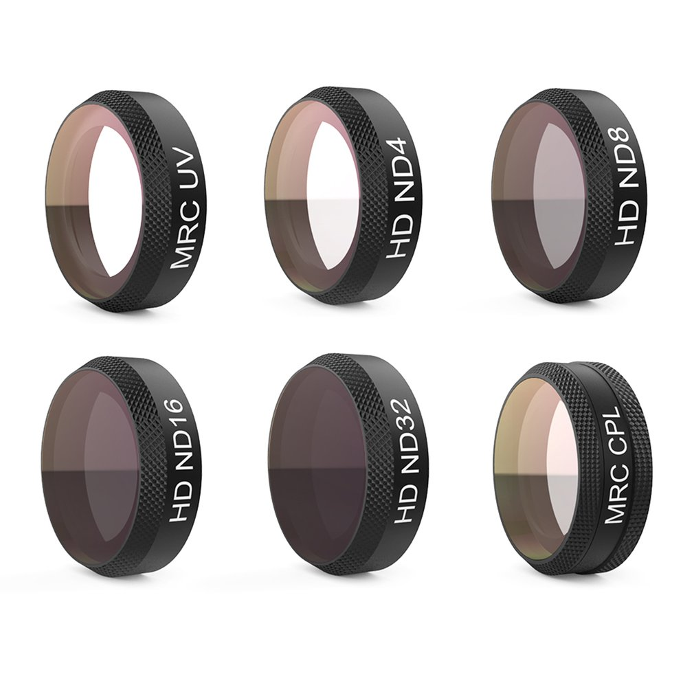 PGYTECH CNC Aluminum Alloy Lens Filters Lightweight Camera Filter Set UV ND4 8 16 32 CPL Suitable For DJI MAVIC AIR
