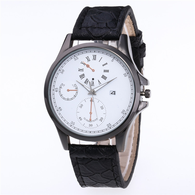 Minimalist Fashion Belt Watch Multicolor Face Dial Personality The Roman Character Code Three Scale Watch With Calendar