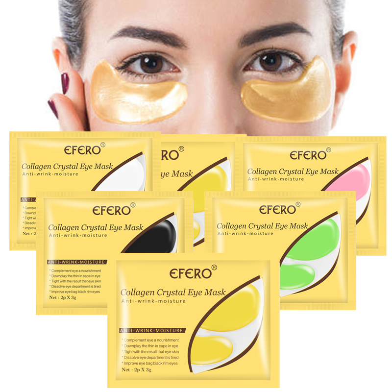 10pair=20pcs Collagen Crystal Eye Mask Face Mask Gel Eye Patches for Eye Bags Wrinkle Dark Circles Moisture Eyes Pads Skin Care