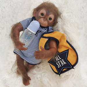 50cm muñeca Reborn mini mono bebé silicona muñeca de juguete realista bebés recién nacidos muñecas regalo de Navidad encantador juguetes para niños niño