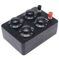 0-9999 ohm simples resistência caixa de precisão variável década resistor instrumento de ensino