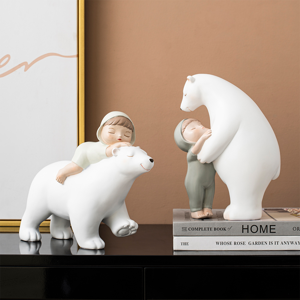 Cute Character Animal Resin Statue Creative Figurines Home Decor Bedroom Decoration Christmas Decorations Kids Birthday Gifts