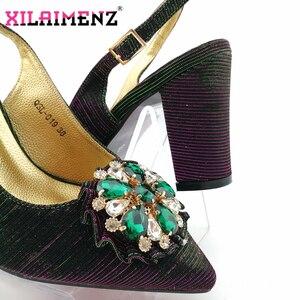 Image 2 - 2020 Nieuwe Ontwerp Nigeriaanse Retro Schoenen En Tas Te Passen Set Afrikaanse Vrouwen Schoenen Comfortabele Hakken Partij Schoenen En Tas set