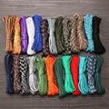 1 шт 12 Цветов 5 метров 4 мм парашютный шнур шнурки прочной нейлоновой веревки 7-нить шнурки верёвки для палатки выживания Открытый туристичес...