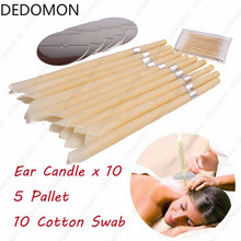 10pcs Ear Candles Ear Wax Clean Removal Natural Beeswax Propolis Indiana Therapy Fragrance Candling Cone Candle Relaxation
