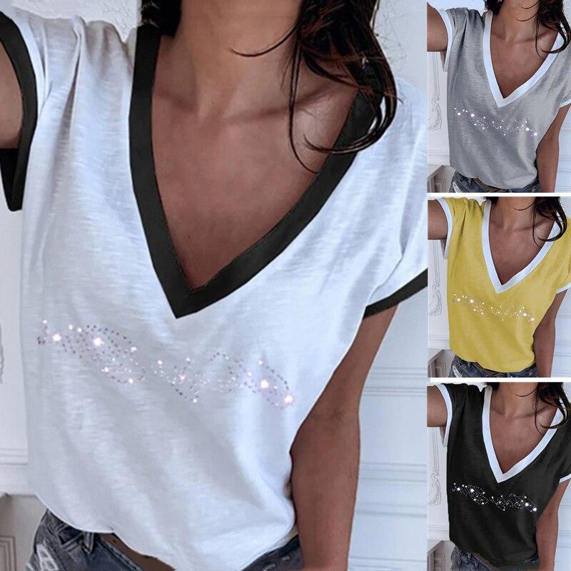 GAOKE White Summer T Shirt Women Casual Womens Tee Shirts Harajuku Plus Size Tops Short Sleeve T-shirt Ladies Women Clothings 6