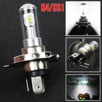 H4/hs1 motocicleta farol 12 v 40 w 8 led cob 6500 k branco 4000lm luzes da motocicleta nevoeiro lâmpada de sinal| |   -