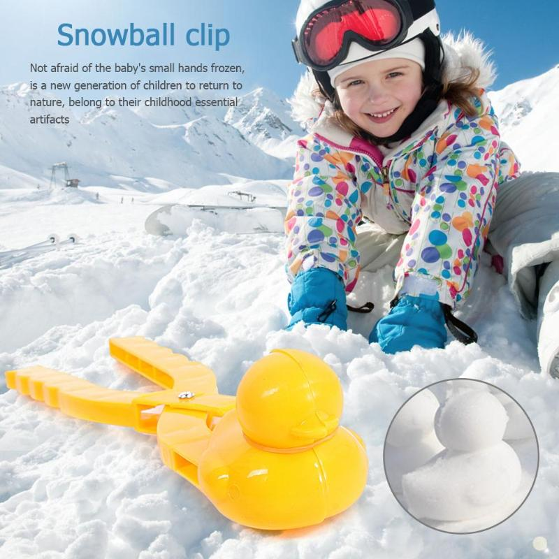 Cartoon Duck Snowball Clip Maker Kids Winter Outdoor Sports Snow Sand Mold Fight Outdoor Sports Toy Tools