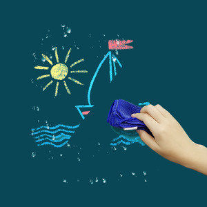 Image 4 - Magnetic DIY Blackboard Drawing Board with Chalk Pen Children Kids Painting Doodle Education Toys for Children Birthday Gift
