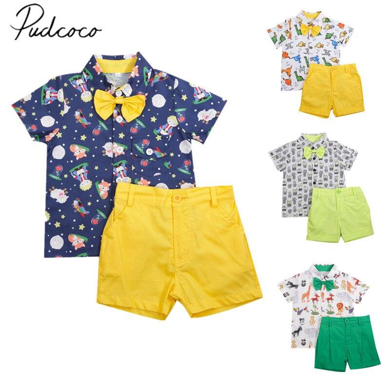 Offre spéciale marque garçons vêtements enfants été garçons vêtements dessin animé enfants garçon vêtements ensemble t-merde + Shorts coton