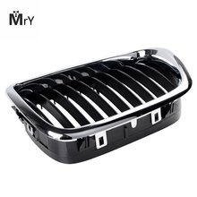 E39 5 Series Black M5 Grilles Gloss Black Front Hood Kidney Grille Grill For BMW E60 E61 5 Series M5 2003-2009 1pair gloss car front sport grill kidney black grilles front hood kidney grille for bmw 5 series m5 e39 e60 e61 2003 2009