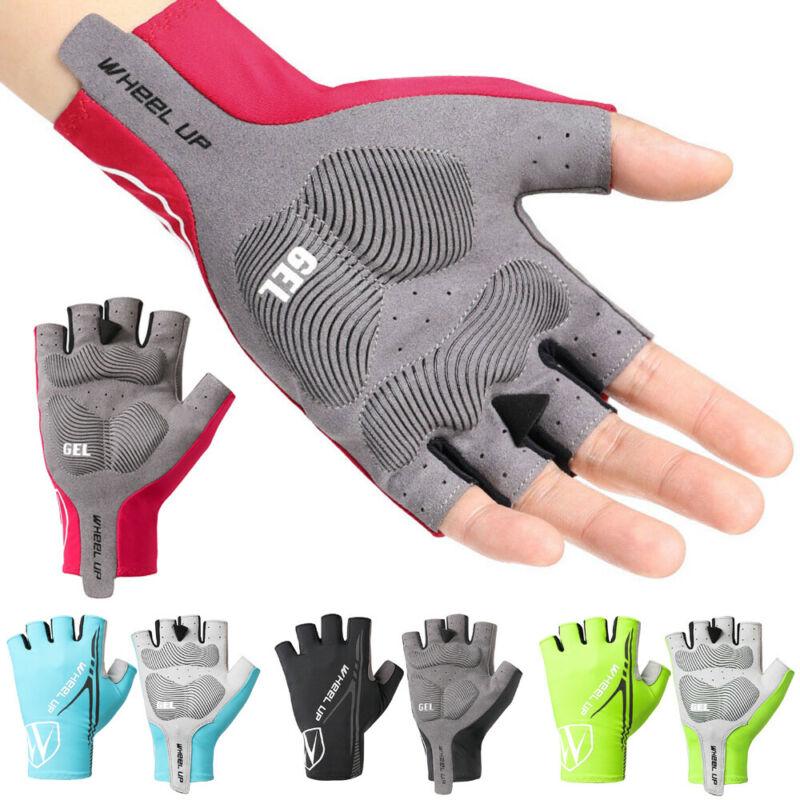 2020 New Style Unisex Cyling Gloves Wheelup Bike Cycling Gel Half Finger Wears Short Finger Outdoor Sport Glove Black Red Yellow