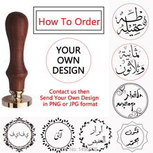 купить Custom stamp Personalized name image Customize logo seal wedding Invitation Retro wax sealing Arabic Foreign language stamps недорого