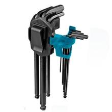 Wrench Screwdrivers Combination Alloy-Tool Hexagonal Lengthen-Allen 9pcs-Set Steel CRV