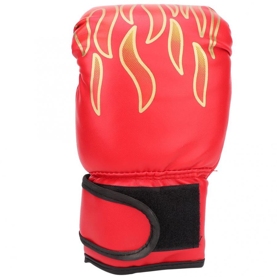 1 Pair Kids Children PU Kick Boxing Gloves Karate Muay Guantes Sanda Equipment❤F