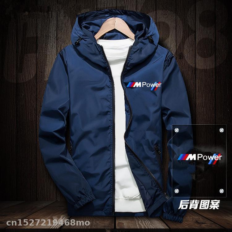 Motorcycle Jacket Windproof For Bmw Jacket Mobike Riding Hooded Suit Windbreaker Sweatshirts Racing Zipper Coat Aj