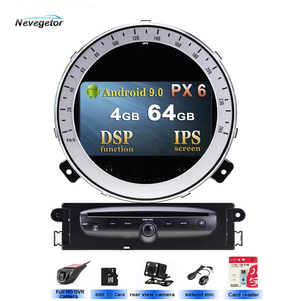 DSP Android 10 navegación GPS con DVD para coche reproductor estéreo de coche Rdio para BMW Mini Cooper 2006-2013 unidad principal de coche BT WIFI 5 USB