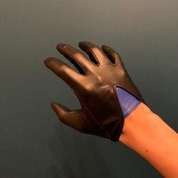 Highshine ungefüttert ziege leder touch screen winter handschuhe für männer schwarz