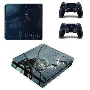 Image 5 - Наклейка Kojima Game Death Stranding PS4 Slim, Виниловая наклейка для консоли Playstation 4 и контроллеров PS4, наклейка Slim Skin