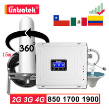 2G 3G 4G GSM 850 1700 1900 MHZ сотовый мобильный телефон усилитель сигнала B5 B2 B4 усилитель UMTS LTE ретранслятор Omni антенна комплект Lintratek