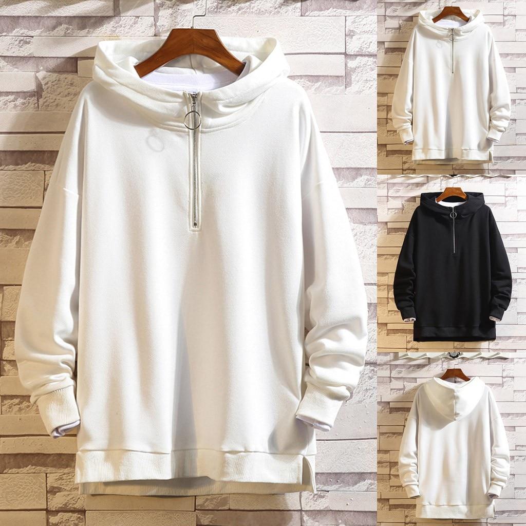 New Fashion Men Casual Autumn&Winter Solid Color Hoodies Long Sleeve Sweatshirt Outwear Coat Wholesale Free Ship худи Z4