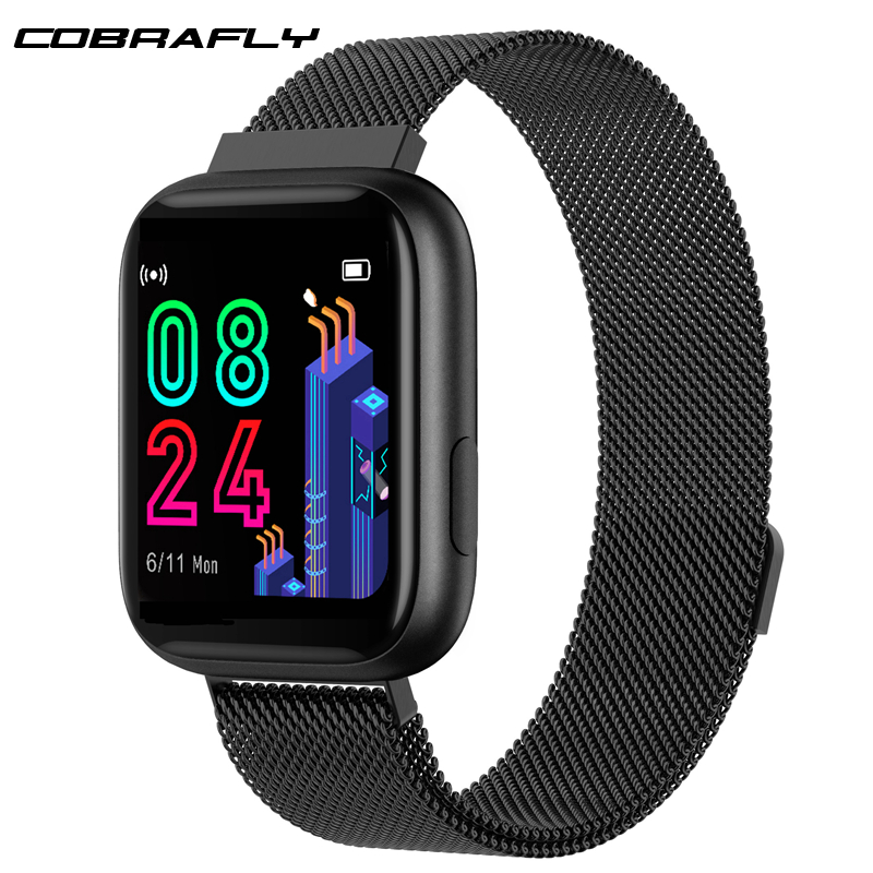 Cobrafly P4 Smart Watch Women Men 1.4 Inch Full Touch Screen IP67 Waterproof Heart Rate Monitor Clock PK P68 P70 P80 for Xiaomi Smart Watches     - title=