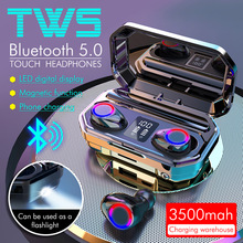 3500mAh Bluetooth Earphones M12 Wireless Headphones Touch Control LED With Microphone Sport Waterproof Headsets Earbuds Earphone top mini sport bluetooth earphone for lg k4 lte k121 earbuds headsets with microphone wireless earphones