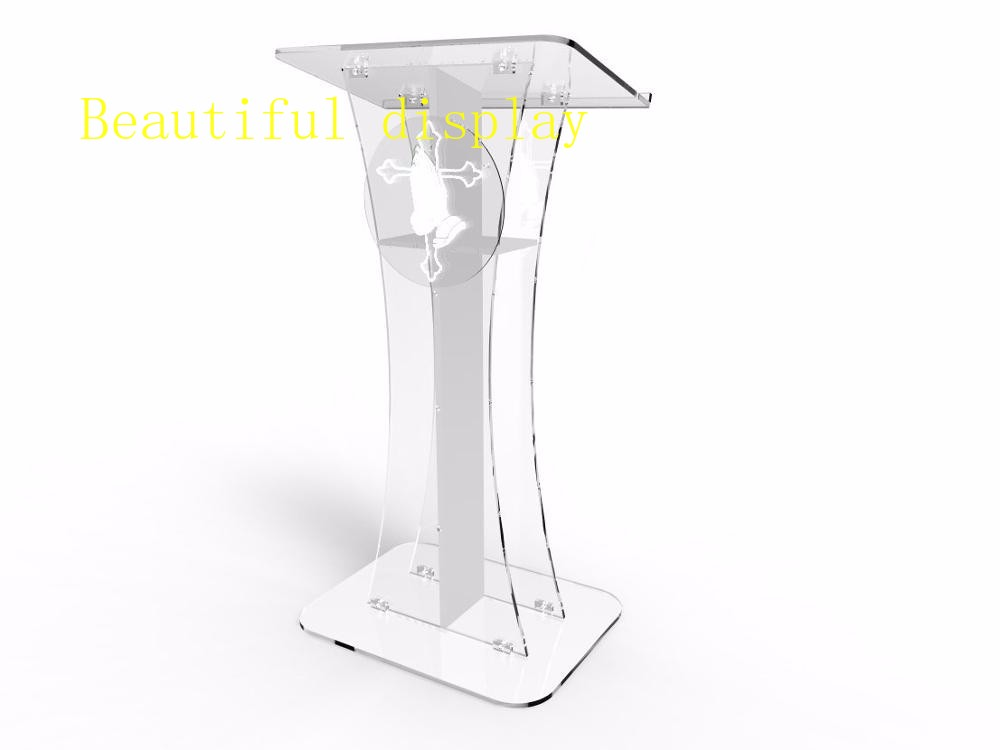 Clean Cross Lectern / Crystal Clear Acrylic Cross Pulpit Of The Church