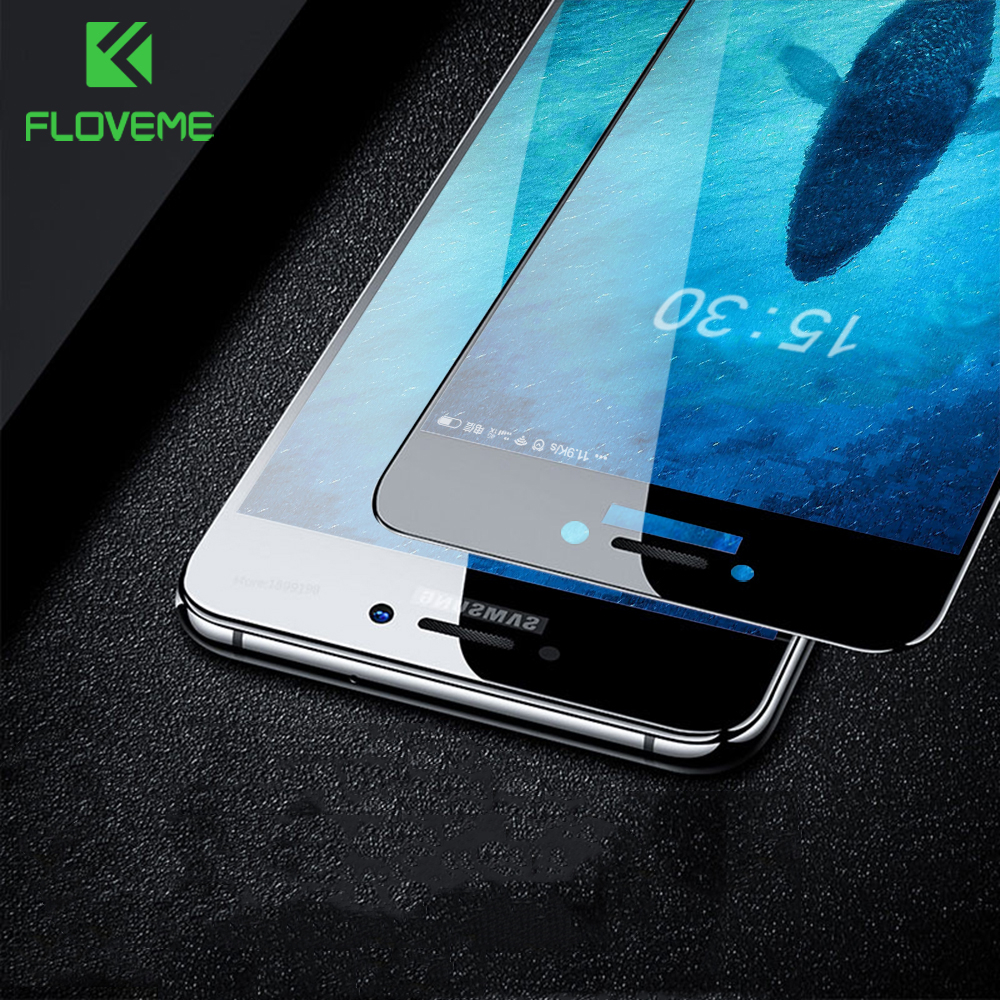FLOVEME Tempered Glass For Samsung Galaxy A5 A7 A3 2017 2016 J3 J5 J7 Screen Protector For Samsung A8 2018 Protective Glass Film