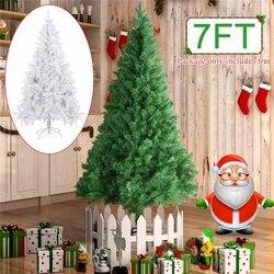 DIY árbol de Navidad 2,1 M/7FT regalo de Año Nuevo flocado árbol de Navidad copo de nieve árbol de Navidad familia Hotel centro comercial Decoración