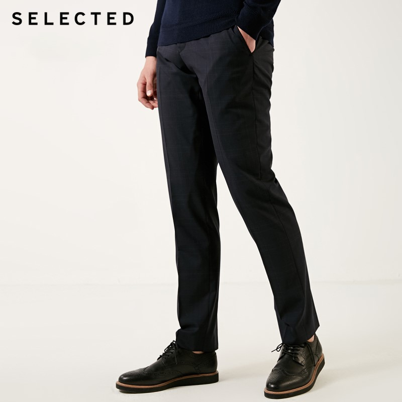 SELECTED Men's Slim Fit Woolen Suit Pants T|41916B501