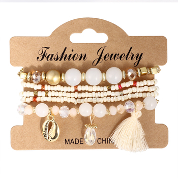 Women's Boho Style Stone Charm Bracelet Bracelets Jewelry New Arrivals Women Jewelry Metal Color: SL1515