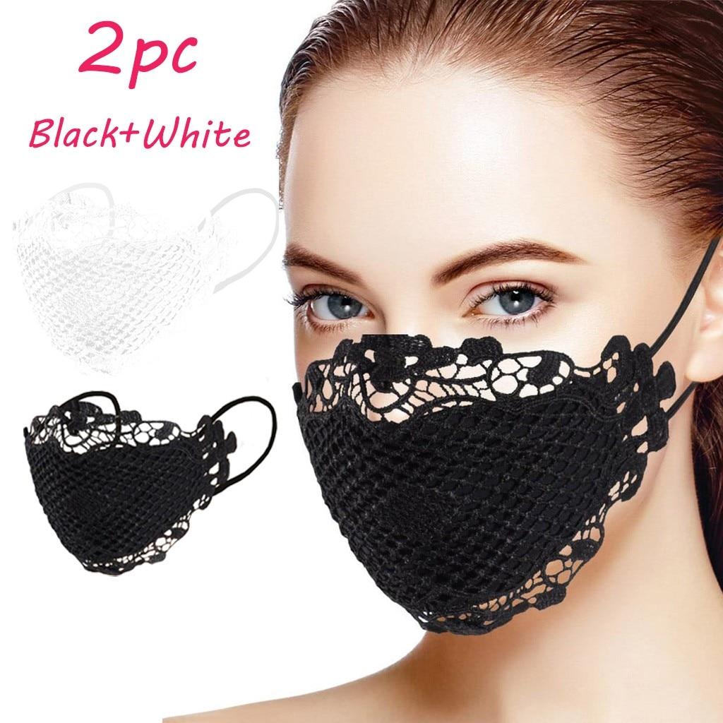 Маска для лица mascararilla 2 шт. деликатная Кружевная аппликация моющаяся многоразовая маска для рта маска для лица маска от маски