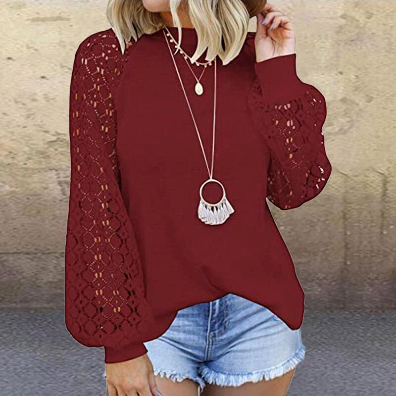 Elegant-Hollow-Out-Lace-Blouse-Shirts-Autumn-Lantern-Long-Sleeve-Knit-Tops-Pullover-Vintage