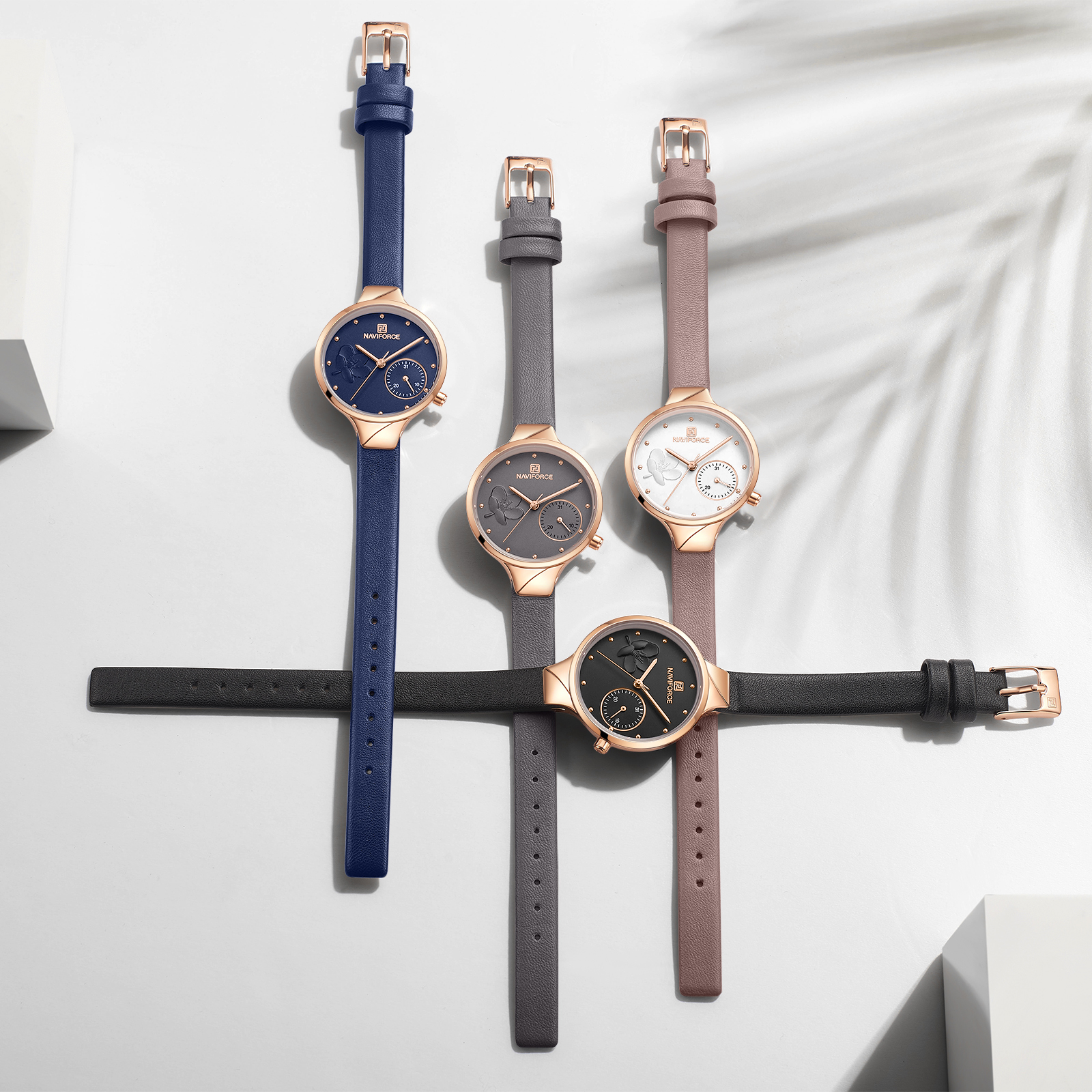 Image 5 - NAVIFORCE Women Watches Luxury Brand Fashion Quartz Ladies Rhinestone Watch Dress Waterproof Watch Simple Clock Relogio FemininoWomens Watches   -