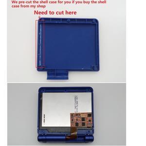 Image 5 - V2 IPS شاشة LCD أطقم ل GBA SP الخلفية شاشة LCD 5 مستويات السطوع V2 شاشة ل GBA SP وحدة التحكم و قبل قطع قذيفة
