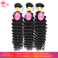 Peruvian Deep Wave Hair Bundles 100% Human Hair Weave Bundles Deal Virgin Hair Natural Color Free Shipping Queen Hair Products