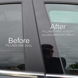 Image 4 - 6pcs Column sticker for 8/10 generations Civic series Car Window Column Decorative Sticker Mirror Black BC Pillar Cover