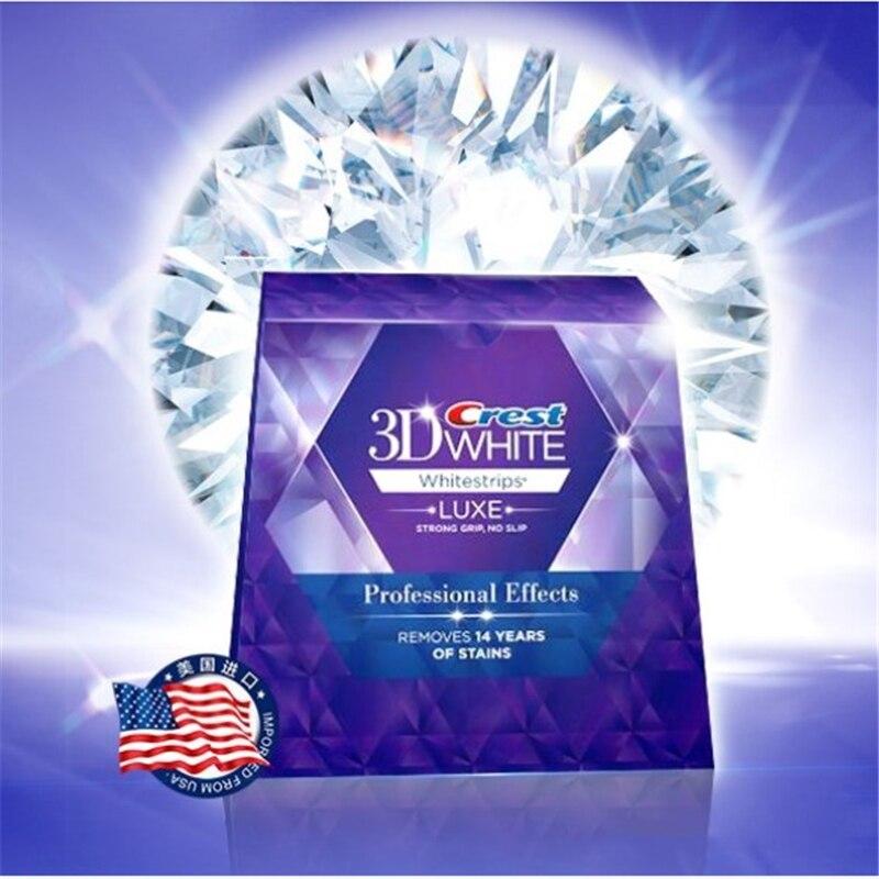 20 bolsa/Caixa 3D Whitestrips Dentes Branqueamento Tiras Crista Efeitos Profissionais Dentes Branqueamento Gel Clareador Dental Higiene Oral
