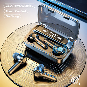 Wireless 5.0 Headphone Touch Control Sports Waterproof  Bluetooth Earphone HiFi 9D Bass Stereo Earphone Headset With Microphone